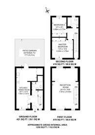Large floorplan for Indigo Mews, Stoke Newington, N16