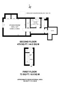 Large floorplan for Hook Road, Surbiton, KT6