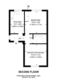 Large floorplan for Camden Road, Islington, N7
