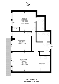Large floorplan for Henry Macaulay Avenue, Kingston, KT2
