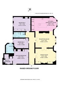 Large floorplan for Cabbell Street, Marylebone, NW1