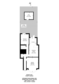 Large floorplan for All Souls Avenue, Kensal Rise, NW10