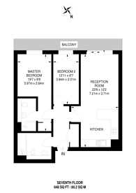 Large floorplan for Nacovia House, Imperial Wharf, SW6