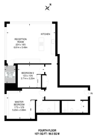 Large floorplan for Kensington High Street, Kensington, W14