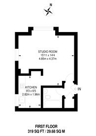 Large floorplan for Friars Avenue, Roehampton, SW15