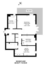 Large floorplan for Nine Elms Lane, Nine Elms, SW8