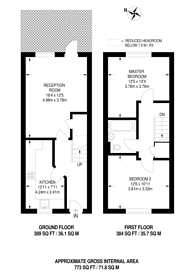 Large floorplan for Heathcroft Gardens, Walthamstow, E17