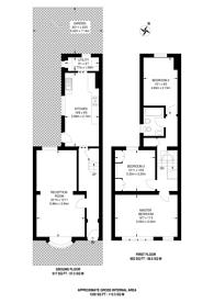 Large floorplan for Birkbeck Hill, Tulse Hill, SE21