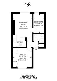Large floorplan for Ladbroke Grove, North Kensington, W10