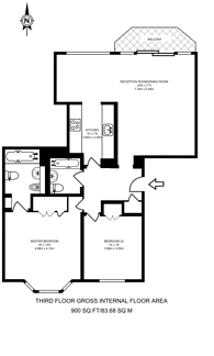 Large floorplan for Brooks Mews, Mayfair, W1K