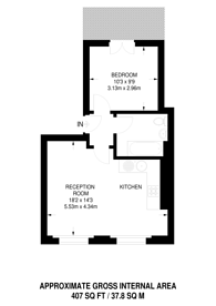 Large floorplan for Isledon Road, Islington, N7