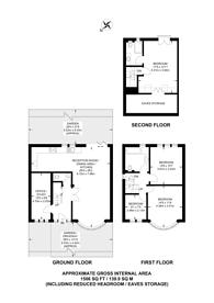 Large floorplan for Burnham Way, Northfields, W13