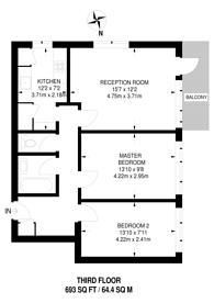 Large floorplan for Norfolk Close, East Finchley, N2