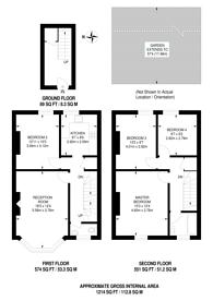 Large floorplan for Hervey Road, Blackheath, SE3