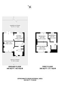 Large floorplan for Miller Road, Croydon, CR0
