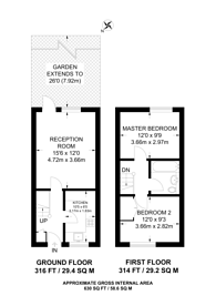 Large floorplan for Abbeyfields Close, Park Royal, NW10
