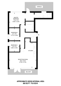 Large floorplan for Sovereign Place, Harrow, HA1