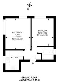 Large floorplan for Arlington Lodge, Brixton, SW2