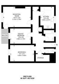 Large floorplan for Bissextile House, Lewisham, SE13