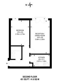 Large floorplan for Oswin Street, Elephant and Castle, SE11