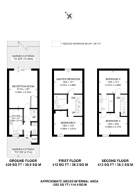 Large floorplan for Bethwin Road, Camberwell, SE5