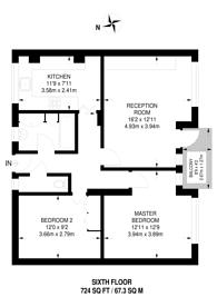 Large floorplan for Percival Street, Clerkenwell, EC1V