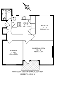 Large floorplan for Whitnell Way, Putney, SW15