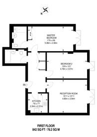 Large floorplan for Burwood Place, Hyde Park Estate, W2