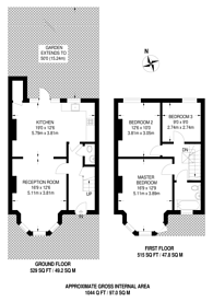Large floorplan for Fleetwood Road, Dollis Hill, NW10