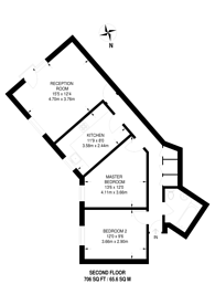 Large floorplan for Buxhall Crescent, Hackney Wick, E9