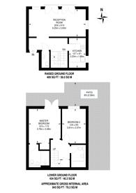 Large floorplan for Stafford Mansions, Clapham North, SW4