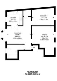 Large floorplan for Tooley Street, London Bridge, SE1