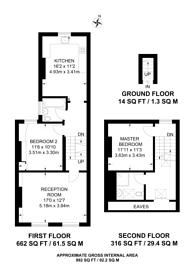 Large floorplan for Sedlescombe Road, West Brompton, SW6