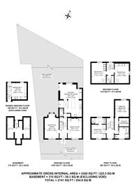 Large floorplan for Cassland Road, Victoria Park, E9