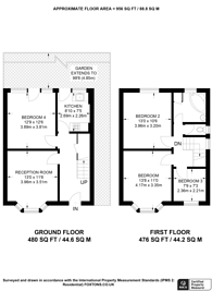 Large floorplan for Old Palace Road, Guildford, GU2