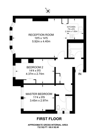 Large floorplan for Frognal, Hampstead, NW3