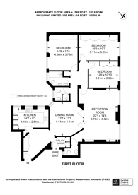Large floorplan for 15 Portman Square, Marylebone, W1H