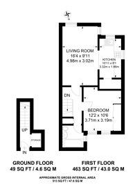 Large floorplan for Keighley Close, Hillmarton Conservation Area, N7