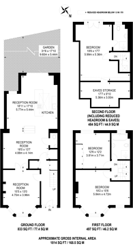 Large floorplan for Bow Lane, North Finchley, N12