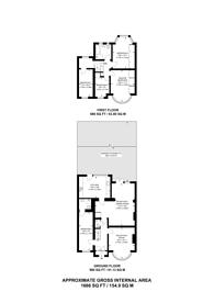 Large floorplan for Grosvenor Gardens, Oakwood, N14