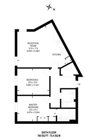 Large floorplan for Mostyn Grove, Bow, E3