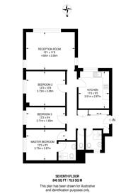 Large floorplan for Parsons House, Maida Vale, W2