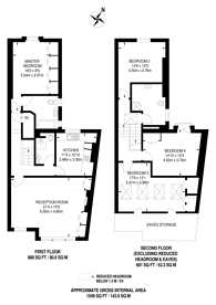Large floorplan for Airedale Road, Balham, SW12