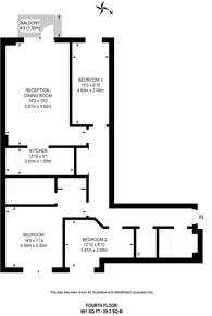 Large floorplan for Vauxhall Bridge Road, Pimlico, SW1V