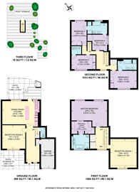 Large floorplan for Elm Tree Close, St John's Wood, NW8