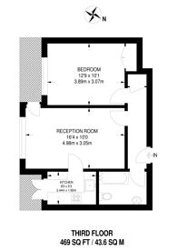 Large floorplan for Ashbourne Close, Woodside Park, N12