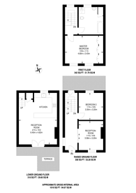 Large floorplan for Buckingham Road, De Beauvoir Town, N1