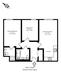 Large floorplan for Point Pleasant, Wandsworth, SW18