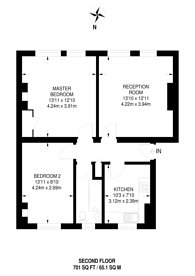 Large floorplan for Middleton House, Westminster, SW1P