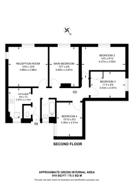 Large floorplan for Dorset Road, Vauxhall, SW8